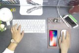 Carregador de telefone móvel rápido tapete para rato com suporte Qi rato sem fios Almofada do carregador para iPhone x 8 Plus Samsung Galaxy Nota 8 S8 Edge S7