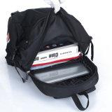 Zaino di nylon nero alla moda di corsa di sport del computer portatile del banco