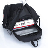 Escola de Nylon preto elegante esporte Laptop mochila de Viagem