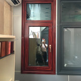 De aluminio con doble acristalamiento Wood-Looking Casement Windows