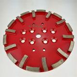 지면 분쇄기를 위한 Edco 10 인치 250mm 콘크리트 다이아몬드 가는 디스크 격판덮개