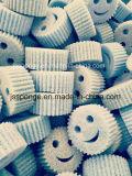 폴리에스테 미소 마스크 모양 부엌 청소 갯솜은 제거한다