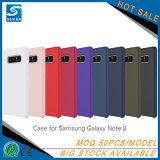Caisse antichoc de téléphone de silicones personnalisée par liquide chaud de vente de qualité pour la note 8 de Samsung