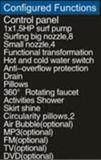 Grote 1950mm TweelingRechthoek Hottub met leiden en het Kussen van de Massage (bij-p0768-3)