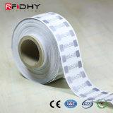 Etiqueta engomada elegante de la etiqueta pasiva de la frecuencia ultraelevada RFID de la gerencia de logística 860MHz-960MHz
