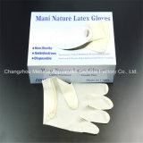 Естественная устранимая перчатка рассмотрения латекса