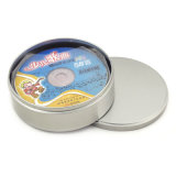 Круглые олов коробки DVD олова металла