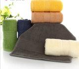 Fabricant professionnel 100% coton broderie serviette serviettes serviettes de visage