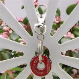 Comercio al por mayor del rectángulo personalizado impreso a doble cara Llavero acrílico con el anillo de metal
