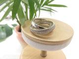 Anello d'argento di pietra scintillante della traversa dell'oro bianco di colore di Zircon con rame d'ottone per il partito