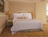 Jogo branco do fundamento da listra do algodão do cetim do estilo do hotel