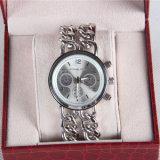 Relógio unisex de quartzo do pulso da forma de aço da alta qualidade do relógio do aço inoxidável do relógio da cinta