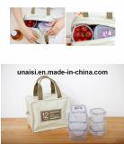 Cuir synthétique isolées des aliments du refroidisseur de vin Pinic Cookout sac à lunch