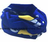 O produto da fábrica personalizou o Headband tubular impresso logotipo da garganta do azul 25*50cm Microfiber