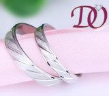 Boucles argentées en gros de promesse de bande de mariage de boucles de couples