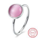 Eenvoudig Ontwerp 925 van de manier de Echte Zilveren Kunstmatige Juwelen van de Ring