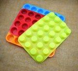 24 trous ronds de silicone de qualité alimentaire de la forme du moule à gâteau