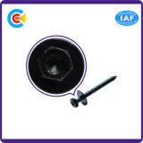 DIN/ANSI/BS/JIS kolen-staal/de Binnen en Buiten Hexagonale Vlakke Schroef Van roestvrij staal van het Stootkussen