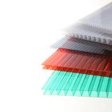 Depresión coloreada de los 2.1m*5.8m hoja del invernadero del policarbonato del espesor de 10 milímetros