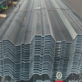 Decking ondulato del pavimento galvanizzato strato della lamiera di acciaio di Decking del pavimento