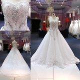 Милая тяжелых валика клея устраивающих платье Crystal свадебные платья длинные поезда