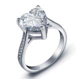Monili d'ottone di modo dell'anello di diamante dell'argento sterlina dell'anello di cerimonia nuziale di modo 925