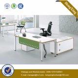 Таблица управленческого офиса L-Формы офисной мебели Veneer (UL-NM057)