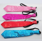 OEM Hot Sale partie LED clignotante Sequin Neck Tie cravate