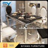 ホーム家具の食堂の一定のステンレス鋼表のダイニングテーブル