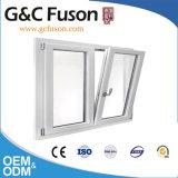 Finestra di alluminio della stoffa per tendine di colore grigio con doppio vetro