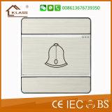 interruptor de pulsador de llamada Bell de la puerta de la pared 1gang