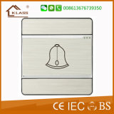 interruptor de tecla da chamada Bell da porta da parede 1gang
