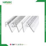 Metalldraht-Haken Belüftung-Plastik-Preis-Halter für hölzerne Glasregale und Korb