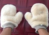 Plüsch Microfiber Auto-Wäsche-Handschuh mit Ineinander greifen