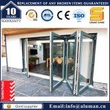 Doble acristalamiento de aluminio puerta deslizante Bi-Folding