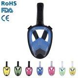 OEM cor-de-rosa do mergulho de RoHS FDA do Ce da máscara do Snorkel da face cheia feito-à-medida alguma fábrica Direclty da cor