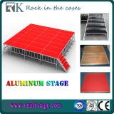 Rk bewegliches Aluminiumgroßhandelsstadium mit roter Plattform für Ereignis