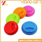 Taza de café de calidad alimentaria de silicona tapa de color púrpura (XY-FL-175)