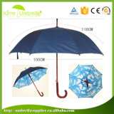 高品質の濃紺の外の青および白い雲の印刷の内部のまっすぐな傘