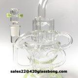 Riciclatore di vetro del tubo di fumo dell'acqua di disegno meraviglioso con i colori americani
