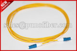 kabel van het Flard van de Vezel van de Schakelaar SM van het Koord van het Pit van 2.0mm de DuplexD4 Gele Optische