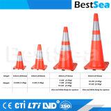 Venda por grosso de laranja de boa qualidade que flui do Cone de tráfego de plástico de PVC de base para a segurança