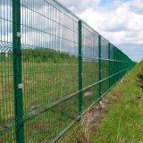 La sicurezza verde ricoperta polvere ha saldato la rete fissa curva della rete metallica