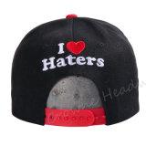 Шлем крышки бленды шерстей выдвиженческого Brim Snapback плоского изготовленный на заказ