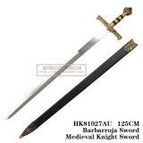 Espadas medievais da decoração das espadas das espadas espanholas 125cm HK81027au