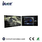 LCD 스크린 인사말 선물 또는 광고를 위한 2.4 인치 영상 브로셔 비디오 카드