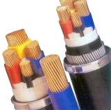 Алюминий 4 сердечников или силовой кабель медного PVC низкого напряжения тока изолированный и обшитый