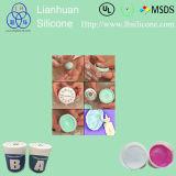 Mastic facile de silicones de moulage de catégorie comestible avec le mastic bleu de silicones de couleur