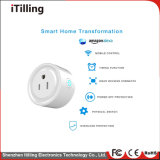 Intelligenter Stecker, WiFi Fernsteuerungsanschluß mit Energie-Überwachung (Wechselstrom 100-240V/10A), elektrische Kontaktbuchse kompatibel mit Alexa, Google Hauptmini, Timer-Anschluss