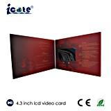 Карточка LCD 4.3 дюймов видео- для Wedding с кнопкой 5